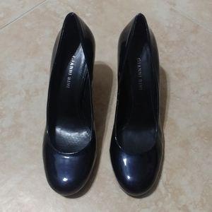 Gianni Bini Navy Patent Heel, Sz 8.5